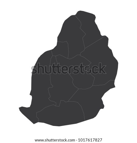 Mauritius Map On White Background Vector Stock Vector (Royalty Free ...