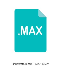 MAX file format flat icon. Linear style sign for mobile concept and web design. Simple color symbol. Vector illustration isolated on white background. EPS 10.