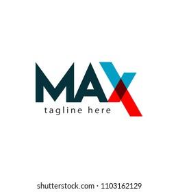 Max Logo Letter Vector Template Design Illustration