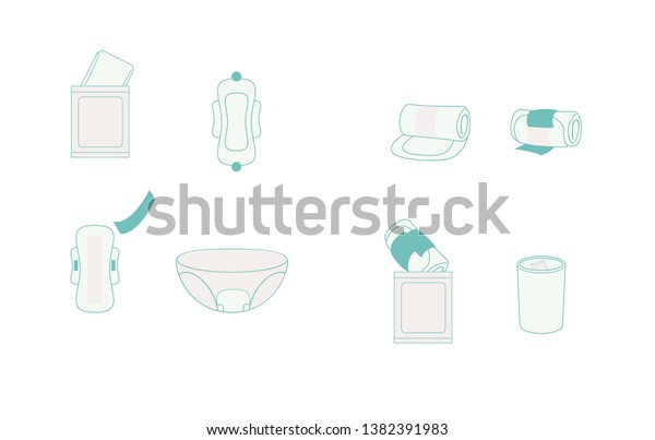 Maxi Pads Asian Women Usually Use Stock Vector (Royalty Free) 1382391983
