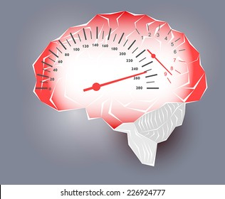 Maximum speed of the human brain