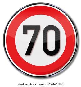 Maximum speed seventy