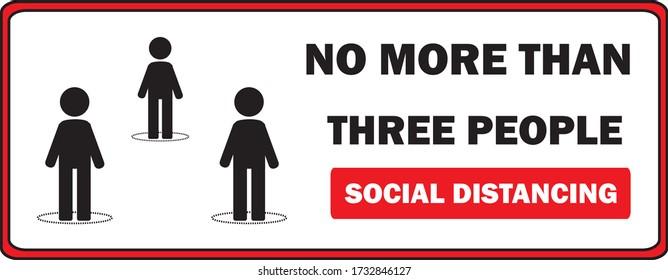 店舗のリフトやエレベーターの店舗では、一度に最大3人が許可され、コロナウイルスやCovid-19ベクター画像から保護する店にサインします。 社会的距離