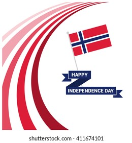 May 17 Norway Independence Day Patriotic Design National Colors of the Country. Happy Independence Day Vector Greeting Card.