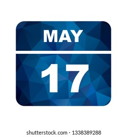 May 17th Date on a Single Day Calendar