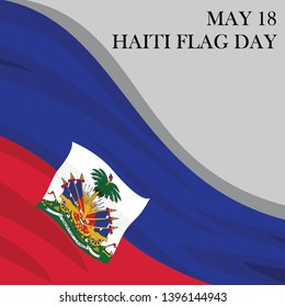 May 18, Haiti Flag Day Vector Illustration. Suitable for greeting card, poster and banner.
