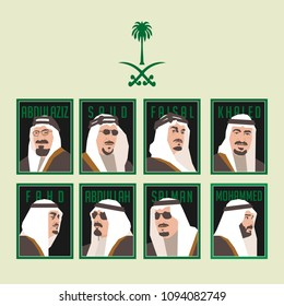 May 19, 2018. All Kings of Royal Kingdom of Saudi Arabia. Ibn Saud. King Saud. Faisal. Khaled. Fahd. Abdullah. Salman. Crown Prince Mohammed.