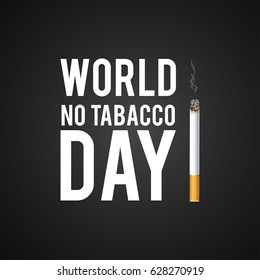 May 31st World No Tobacco Day. No Smoking Day Awareness. Poison of cigarette. Vector. Illustration.
