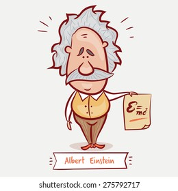 MAY 7, 2015: A vector illustration of a portrait of Albert Einstein on a neutral background