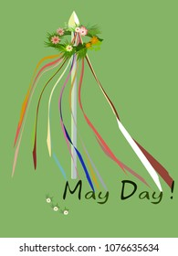 May Day celebration in England.May bank holiday weekend's. Vector illustration.