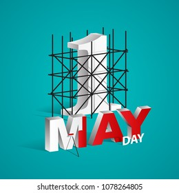 May Day, Happy Labour Day EPS 10