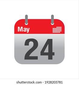 May empty calendar icon design