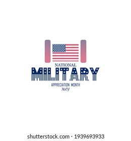 May is National Military Appreciation Month, background design.