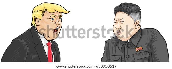 May132017caricature Character Illustration Kim Jong Un Stock