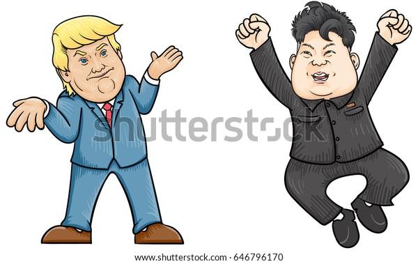 May252017caricature Character Illustration Kim Jong Un Stock