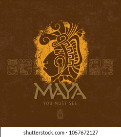 Maya. Ancient Civilization. Travelling. Adventures. You must see. Poster Template