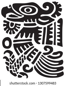 maya ornament. vector image for logo or illustrations