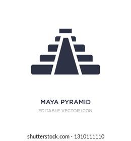 maya pyramid icon on white background. Simple element illustration from Monuments concept. maya pyramid icon symbol design.