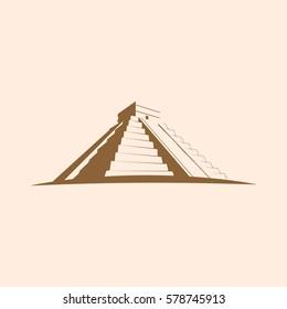 Maya Pyramid, Temple of Kukulkan. Mayan pyramid