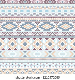 Mayan american indian pattern tribal ethnic motifs geometric seamless background. Beautiful native american tribal motifs clothing fabric ethnic traditional design. Mayan clothes pattern design.