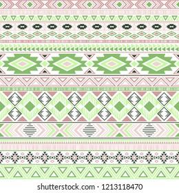 Mayan american indian pattern tribal ethnic motifs geometric vector background. Modern native american tribal motifs textile print ethnic traditional design. Mexican folk fashion.