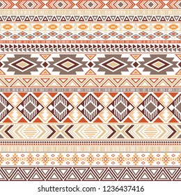 Mayan american indian pattern tribal ethnic motifs geometric seamless background. Beautiful native american tribal motifs clothing fabric ethnic traditional design. Aztec symbol fabric print.