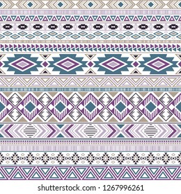 Mayan american indian pattern tribal ethnic motifs geometric seamless background. Doodle native american tribal motifs clothing fabric ethnic traditional design. Mexican folk fashion.