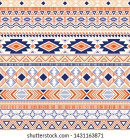 Mayan american indian pattern tribal ethnic motifs geometric seamless background. Bohemian native american tribal motifs clothing fabric ethnic traditional design. Aztec symbol fabric print.