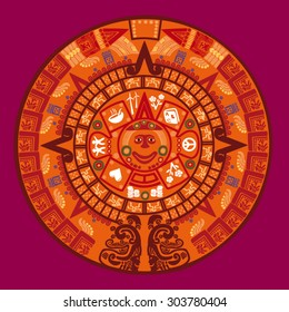 Mayan calendar vector illustration
