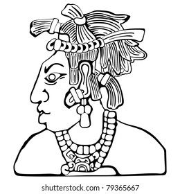 mayan icon tribal chief