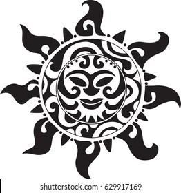 Mayan Sign. Sun. Tattoo.