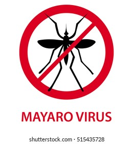 Mayaro virus icon, mosquito icon