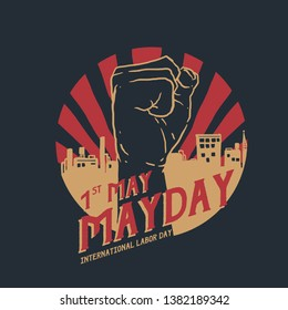 mayday vector illustration. international labor day.
