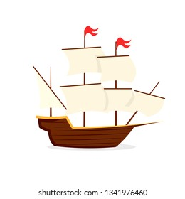 Mayflower ship icon. Clipart image isolated on white background