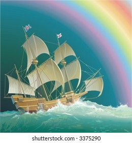 """Mayflower"" under the rainbow"