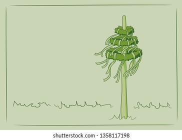 maypole vector illustration green colors copy space
