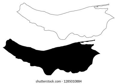 Mazandaran Province (Provinces of Iran, Islamic Republic of Iran, Persia) map vector illustration, scribble sketch Mazandaran map