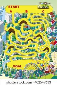 Maze _ amusement park in parallel!