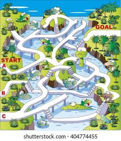 Maze of crocodile