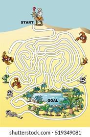 maze of desert