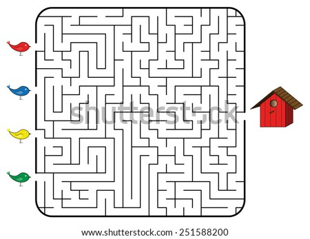 maze game children find correct way stock vector royalty free