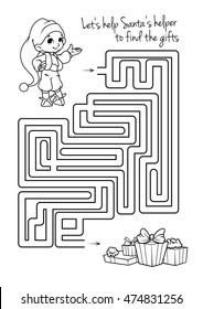 Similar Images, Stock Photos & Vectors of Maze game for kids with ...