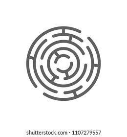 Maze icon vector in trendy flat style isolated on white background
