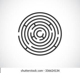 maze labyrinth abstract icon - logo