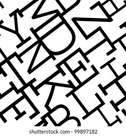 Maze of letters. Seamless pattern.