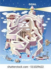 Maze of lighthouse