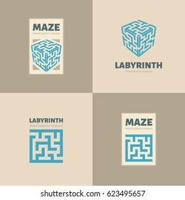 The maze logo