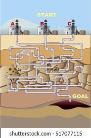 Maze of oil field