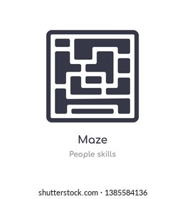 maze outline icon. isolated line vector illustration from people skills collection. editable thin stroke maze icon on white background