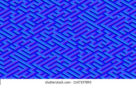 Maze pattern abstract background with colorful labyrinth for mobile lock screen, poster or wallpaper